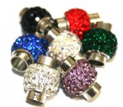Pave crystal style magnetic clasps